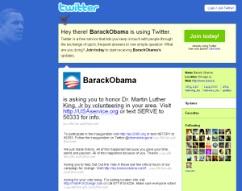 Twitter Obama auch in Zukunft?