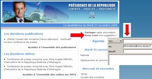 Newsletter - Palais de l'Elysée