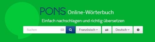 PONS Wörterbuch online