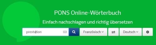 PONS online nachschlagen