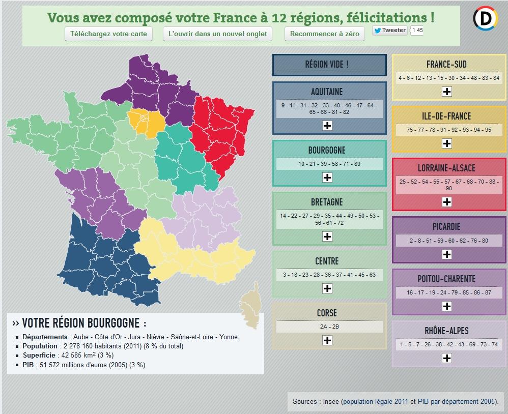 Frankreich Karte Regionen.Décentralisation Das Frankreich Blog Relations Franco Allemandes