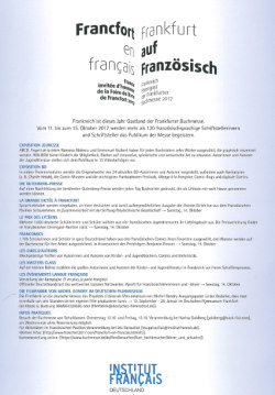 in franzsisch heute 32017 2 umschlagseite steht eine zusammenfassung aller aktivitten von frafra2017 - Zusammenfassung Franz Sisch